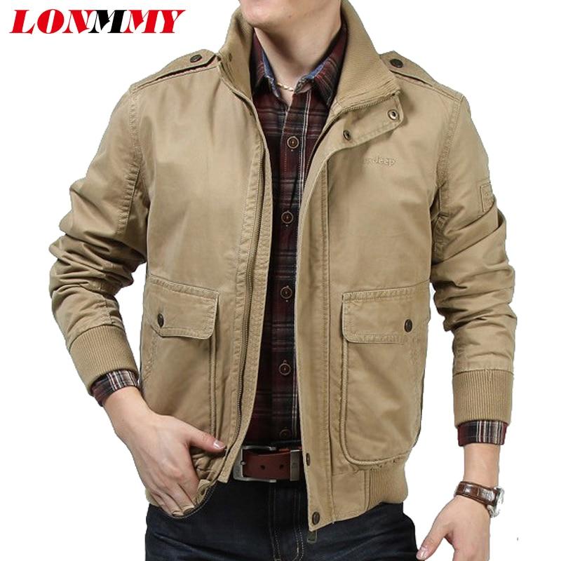 LONMMY 2017 Bomber jacket men Cotton Jaqueta masculina Brand clothing Army windbreaker Military jackets mens coat Short styles