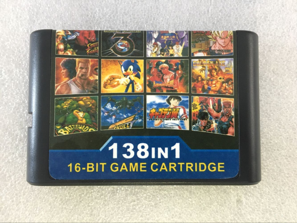 The Best 138 in 1 Game Cartridge 16 bit MD Game Card For Sega Mega Drive For Sega Genesis,for original console and Miscellaneous
