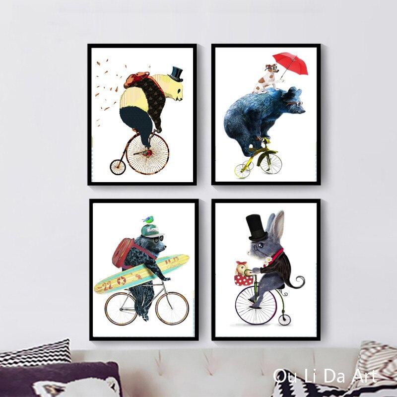 Online-Shop Keine rahmen cartoon tier bär maus fahren fahrrad ...