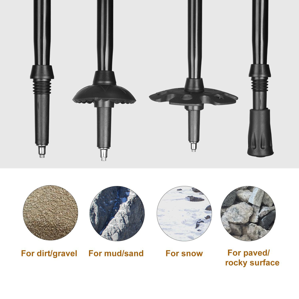 Trekking Hiking Stick Poles 4 different kind of uses