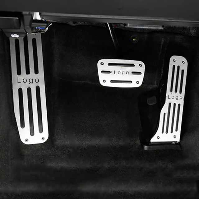 QHCP Car Left Side Aluminum Alloy Foot Rest Pedal Accelerator Pedal+ Brake Pedal Cover Trim Fit for Chevrolet Camaro