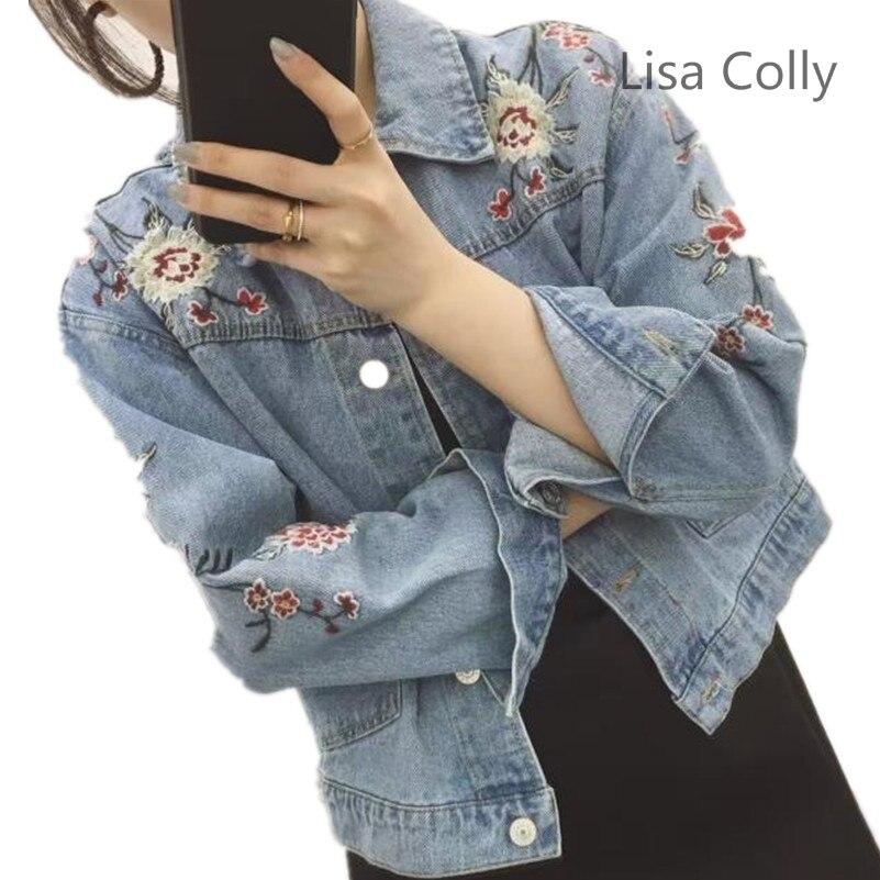 Lisa colly 2017 mujeres de la manera imprimir bordado de la flor del agujero cha