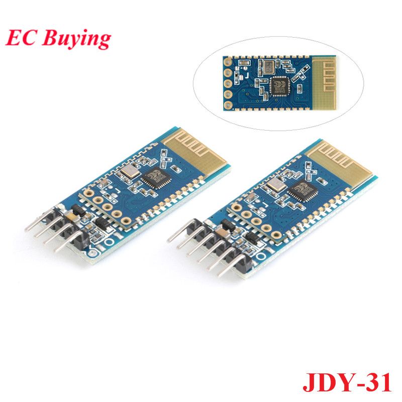 JDY-31 Bluetooth 3.0 HC-05 HC-06 Bluetooth Module Serial Port 2.4G SPP Transparent Transmission Compatible With HC 05 06 JDY-30