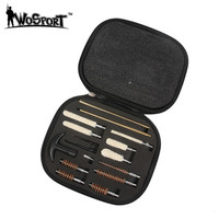 16 Piece Pistol Gun Cleaning Kit Fit All Calibers Handguns 9mm Barrel Brushes Tools Set With
