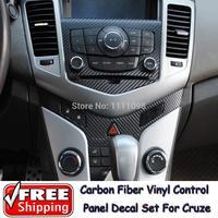 10 x Carbon Fiber Vinyl Sticker Xe CD Control Panel Sticker Đặc Biệt Thiết Kế cho Chevrolet Chevy/Holden Cruze