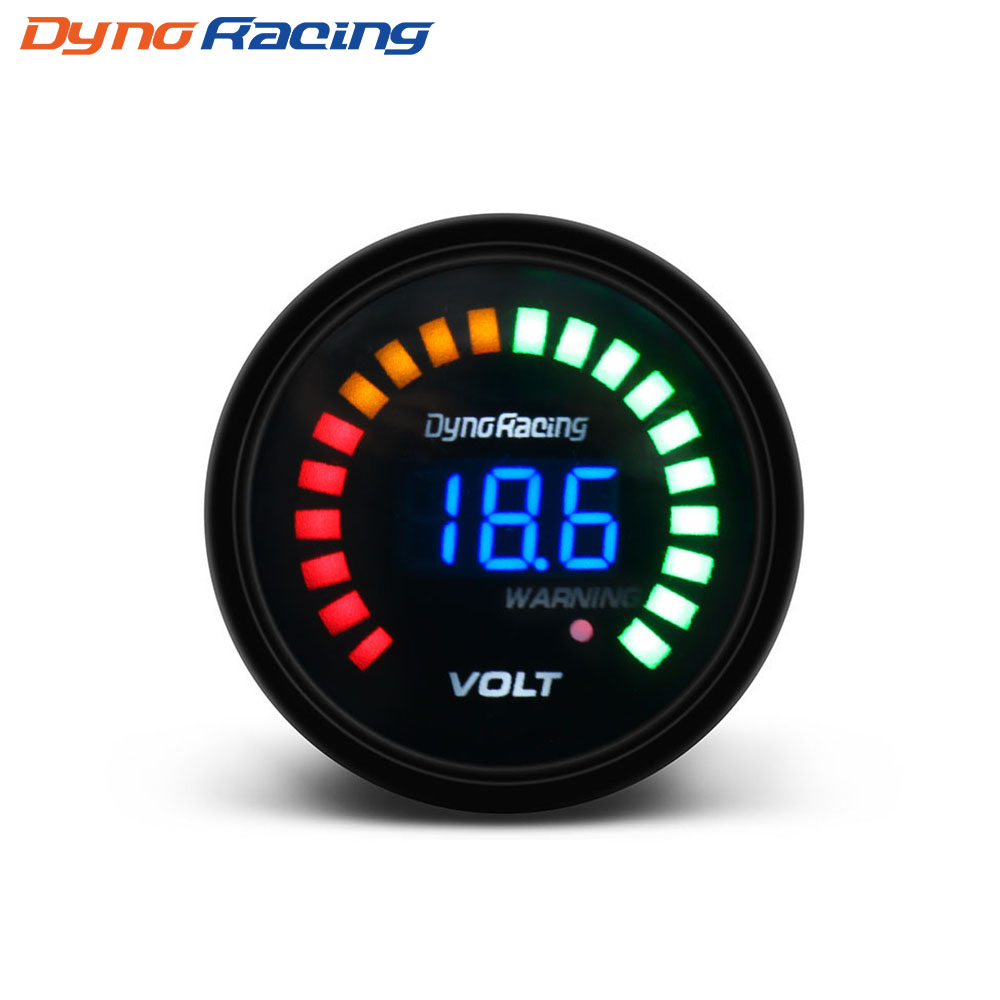 Dynoracing 2 inch 52mm <font><b>12V</b></font> Car Digital <font><b>Voltmeter</b></font> Volt <font><b>Gauge</b></font> Meter 20 LED Black 7.5-20V Volts Volt Car Meter BX101456 image