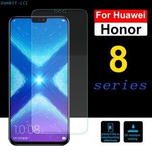 Image 1 - 9 H Beschermende Screen Glas Voor Huawei Honor 8 8X 8C 8 S Gehard Huavei Huawey Honer 8 Lite pro 8A Protector 2.5D Film