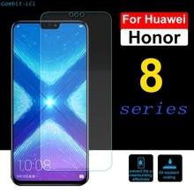 9 H protector de pantalla de vidrio para Huawei Honor 8 8X 8C 8 S templado Huavei Huawey Honor 8 Lite pro 8A Protector 2.5D película