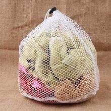 Malha de náilon sacos de lavagem roupa interior sutiã saco de lavanderia cesta doméstica organizador limpo cordão feixe porto limpeza doméstica