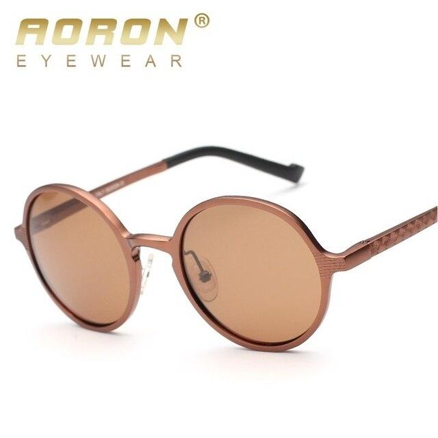 674a9c10366f9 AORON Polarizada Unisex Rodada Círculo Sunglasses Teashades Avó Óculos de Sol  Óculos de Condução Óculos Óculos