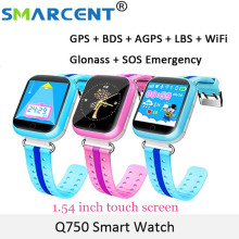 Original GPS Smart Watch Q750 Q100 Baby Smart Watch With 1 54inch Touch Screen SOS Call