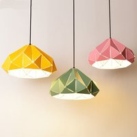Modern Diamond Pendant Lights Fixtures Nordic design Dining Room Hanging Lamps for living room Led Colorful Lamp Shade Luminaire