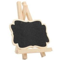 Jses | 10 pces mini quadro de madeira mensagem quadro tabela número casamento festa decoração 8.5*12*1.5cm