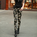 New Army Fashion Women Pants Female Casual Military Denim Trousers Tight Elastic High Waist  Camouflage Pencil  Pants for Women