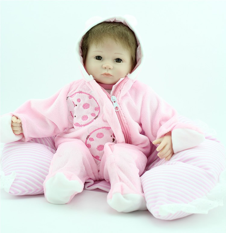"Handmade Vinyl Lifelike Reborn Baby Doll Girl Soft Silicone 18/""//45cm Eyes Open"