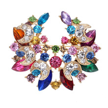 New Big Flower Brooches High-Grade Lovely Crystal Brooch pins Fashion Women Jewelry Wholesale Gift