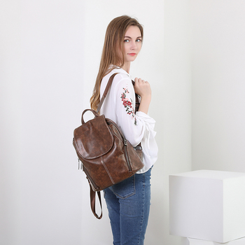 POMELOS Backpack Women High Quality PU Leather Fashion Small Antitheft Backpack For Women School Bags For Teenage Girls Back Bag