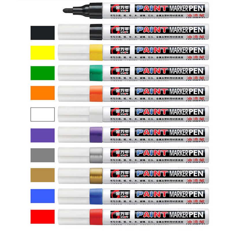 Stylo marqueur à huile coloré Original Know 10 couleurs Art marqueur peinture et dessin sur la Surface du tissu, du bois, du verre, de la pierre, du métal