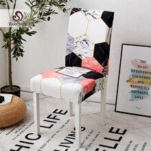 Parkshin moderno geométrico capa de cadeira assento elástico capas de cadeira pintura slipcovers restaurante banquete do hotel decoração para casa