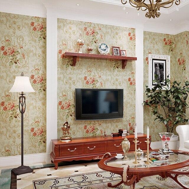 Beibehang Amerikanischen Retro Bronzing Geprägte große blume 3D Tapete  Wohnzimmer Schlafzimmer Hintergrund tapete für wände 3 d tapety