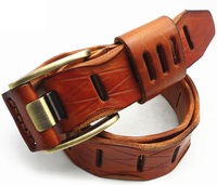 2014 Brand NEW Men Belts Woman Genuine Leather High Quality Hollow Jeans Of Lady Strap Male