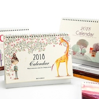 Nature Song 2018 Desk Calendar Beautiful Table Agenda Study Scheduler Planner Memo