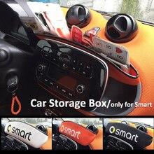 Smart 451 453 Fortwo Forfour 2009-2019 Автомобиль отдел для панелей; Хранение коробка из искусственной кожи коробка для хранения Контейнер