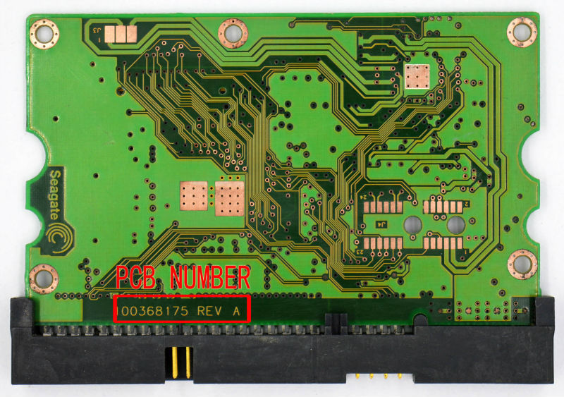 HDD PCB FOR SEAGATE/Logic Board/Board Number: 100368175 /Main Controller IC: 100328749 10035606