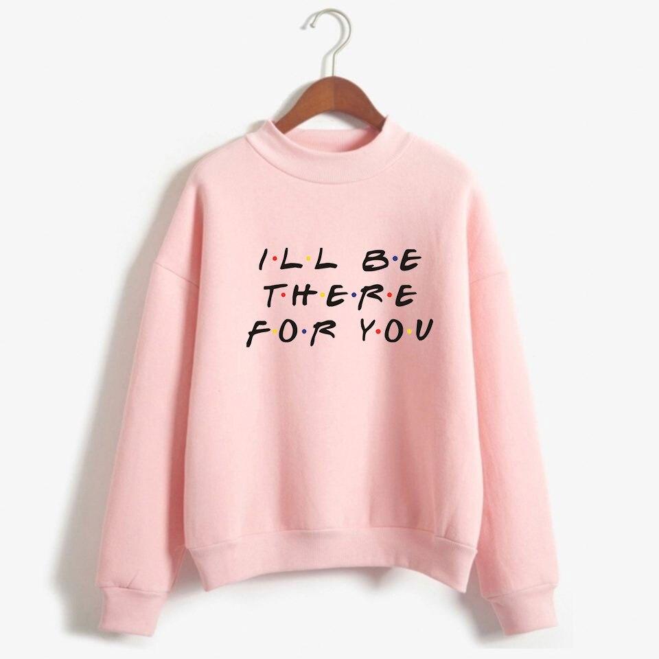 LUCKYFRIDAYF  2018 Friends How You DOIN Unisex Turtlenecks Capless Fashion Warming Sweatshirt Women Fashion Casual Clothes