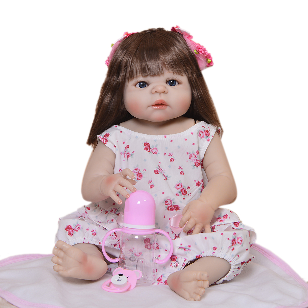 Exclusive 23Reborn Doll Full Silicone Body Synthetic Hair Reborn Dolls Lifelike Kids Playmates Baby Toys Girl Christmas GiftsExclusive 23Reborn Doll Full Silicone Body Synthetic Hair Reborn Dolls Lifelike Kids Playmates Baby Toys Girl Christmas Gifts