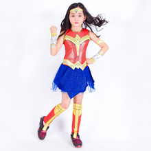 Justice League Wonder Woman Diana cosplay costume Wonder Woman Anime Girl Show Hero Clothes new dc wonder woman super hero girl high school model building block brick toy 41232 wonder woman compatible legoes gift kid set