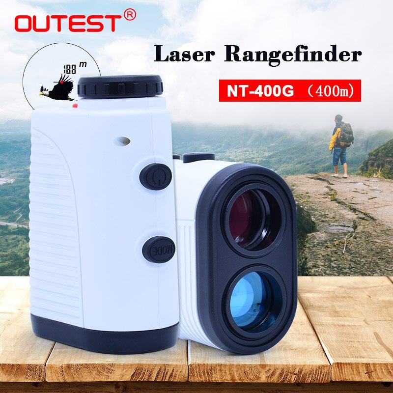 Outest лазерный дальномер для гольфа Охота 400 м лазерный дальномер 7X Монокуляр телескоп Лазерный диапазон поисковая лента мера Roulet