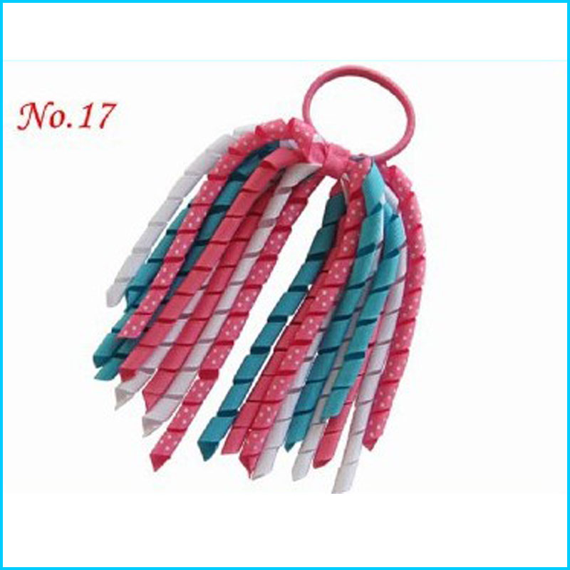 200 BLESSING Good Girl Boutique Rainbow Stylish Corker Ponytail Elastic Hairbow