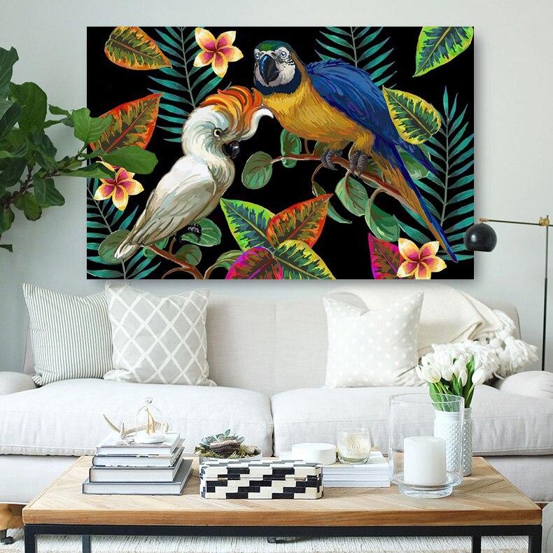Embelish Горячие вектор живопись с тропическими Товары для птиц стены Книги по искусству Плакаты для современных Домашний Декор HD холсте масло... ...