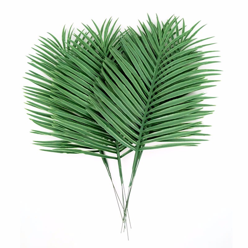 Buy artificial palm leaves 10pcs green for Artificial leaves for decoration