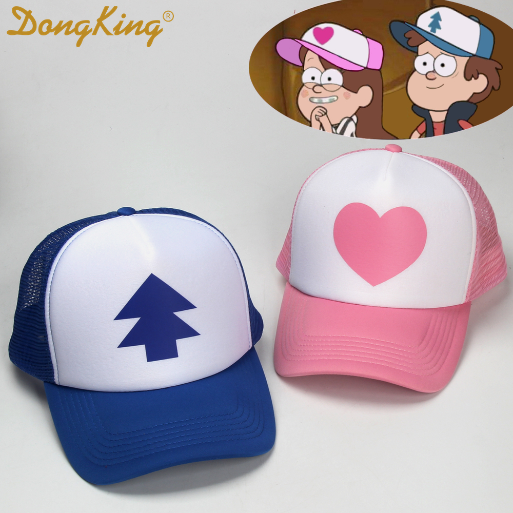 5a45953ff08d3 Dongking gravity falls camionero sombrero dibujos animados gorras mabel  dipper cosplay blue pines rosa corazón jpg