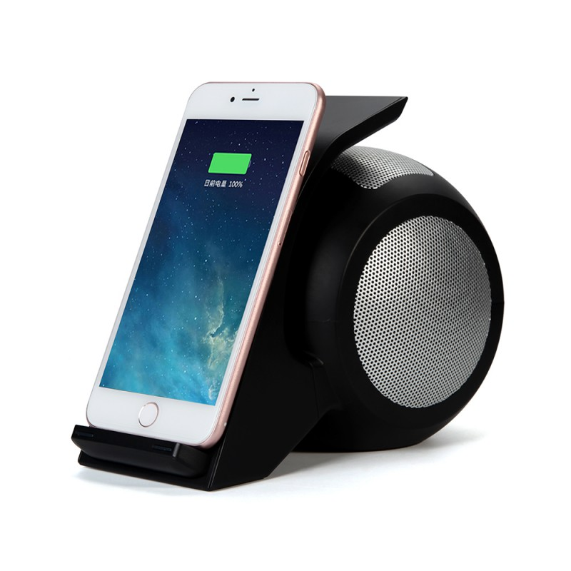 Bluetooth Speaker Portable With NFC Function Speaker  Supports Wireless Charging Standard For Mobile Phones Speakers mymei best price new portable 3 5mm pillow speaker for mp3 mp4 cd ipod phone white