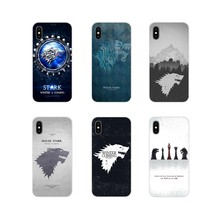 Transparan Lembut Kasus Cover Game Of Thrones House Stark untuk Samsung Galaxy S4 S5 Mini S6 S7 Edge S8 S9 s10 Plus Catatan 3 4 5 8 9(China)