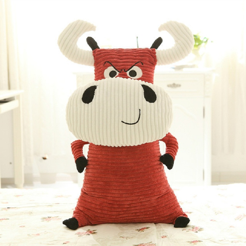 Stuffed animals plush soft toy kawaii Lovely bulls doll stuffed toy coarse baby cloth birthday gift pillow girlfriend gift 60cm