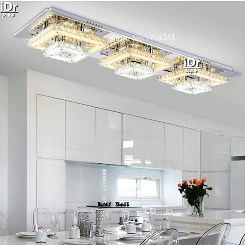 US $239.2 60% di SCONTO|Atmosfera di lusso Soggiorno Ristorante Sala  Lampadari lampade LED Lampadari moderni cristallo di Diamante RoomDining ...