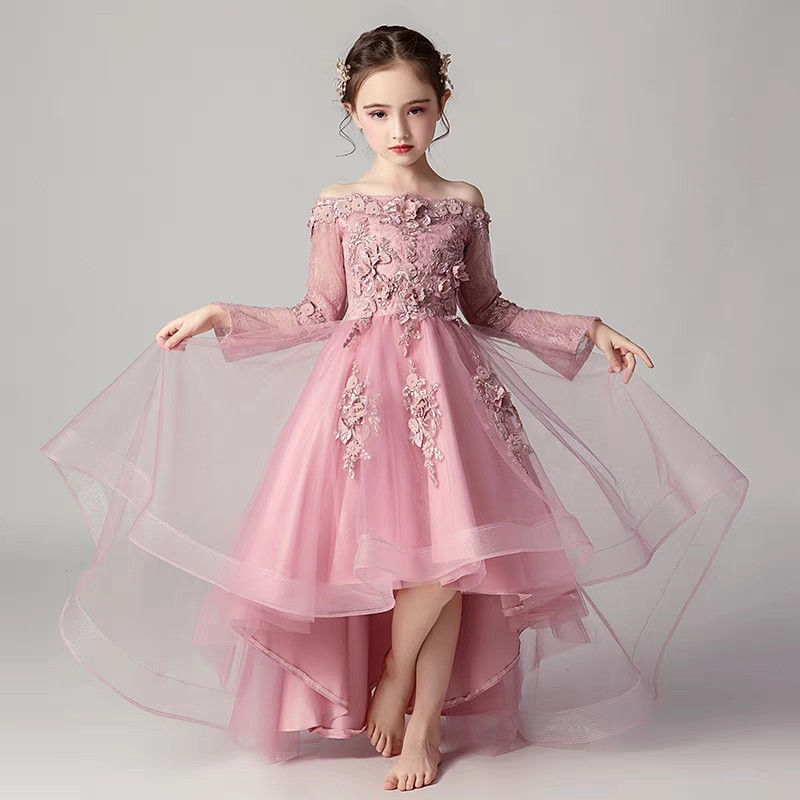 3~15yrs Children Girls Luxury Fashion Birthday Wedding Party Front Short Back Long Tail Lace Dress Kids Teens Evening Dress Wear3~15yrs Children Girls Luxury Fashion Birthday Wedding Party Front Short Back Long Tail Lace Dress Kids Teens Evening Dress Wear