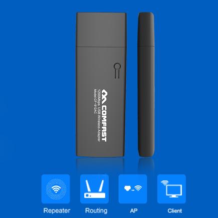 Porta usb 3.0 adaptador sem fio wi-fi 11ac dupla freqüência sem fio wps uma criptografia de chave 1200 mbps placa de rede comfast cf-912ac