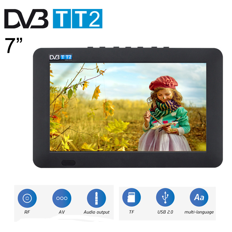 Leadstar 7inch Portable Television LED HD Digital And Analog AC3 TV MP4 MP3 Player Support TF Card USB Playback With Car Charger 7 inch portable led tv television dvb t mpeg4 pvr black