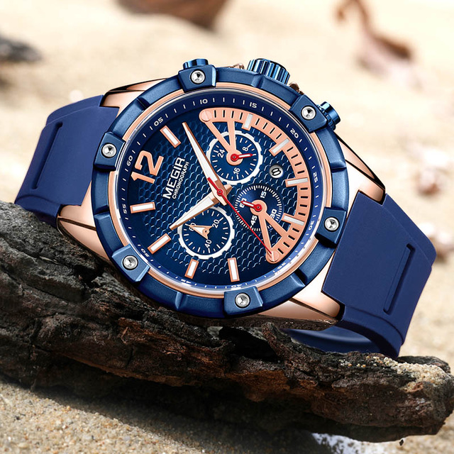 Relogio Masculino MEGIR CHRONOGRAPH Sport Function Mens Watches Top Brand Luxury Silicone Wrist Watches Men Male Quartz WatchRelogio Masculino MEGIR CHRONOGRAPH Sport Function Mens Watches Top Brand Luxury Silicone Wrist Watches Men Male Quartz Watch
