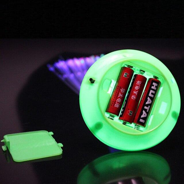 Lámpara nocturna de fibra óptica LED con cambio romántico de Color, pequeña luz nocturna, decoración para el hogar y fiestas de Navidad