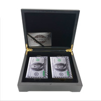 Party Fun Playing Card 100 Dollar Silver Banknote US Double Playing Card In Box Personalized Gifts