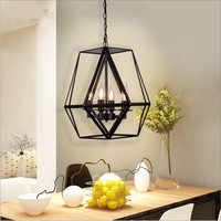 Industrial Classical 4 Lights E14 loft cafe bar black chain pendant lights lamp suspension light fixture for hotel project