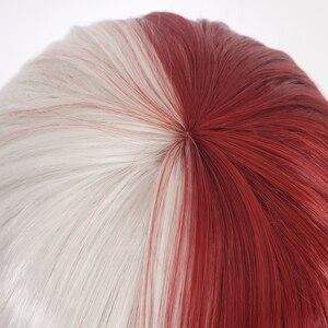 Image 4 - Anime My Hero Academia Boku no Hiro Akademia Shoto Todoroki Shouto White And Red Cosplay Wig+Wig Cap