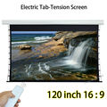 Tab Tensioned Automatic Projection Screen 120-inch 2656x1494mm With 1.2 Gain For Office Home Theater Projector
