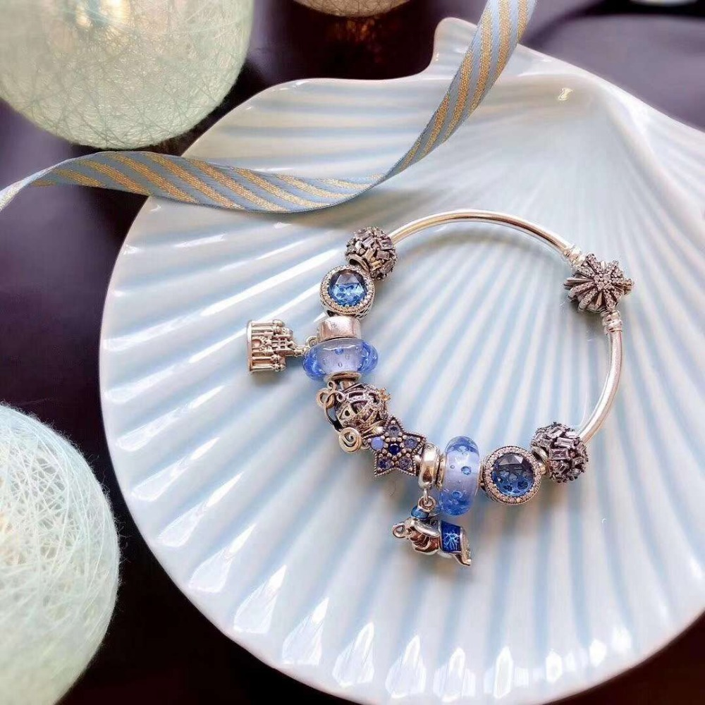 100% Pure Silver Original Copy 1:1 High Quality New Blue Bracelet Series Factory Direct Batch Free Shipping100% Pure Silver Original Copy 1:1 High Quality New Blue Bracelet Series Factory Direct Batch Free Shipping